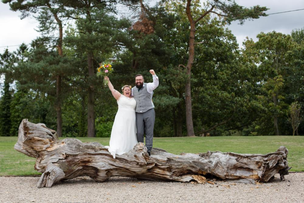 Pimhill barn wedding with dinosaurs and wood