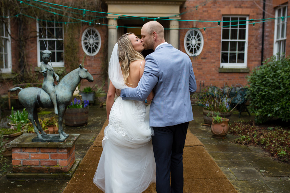 Walcot Hall wedding portrait