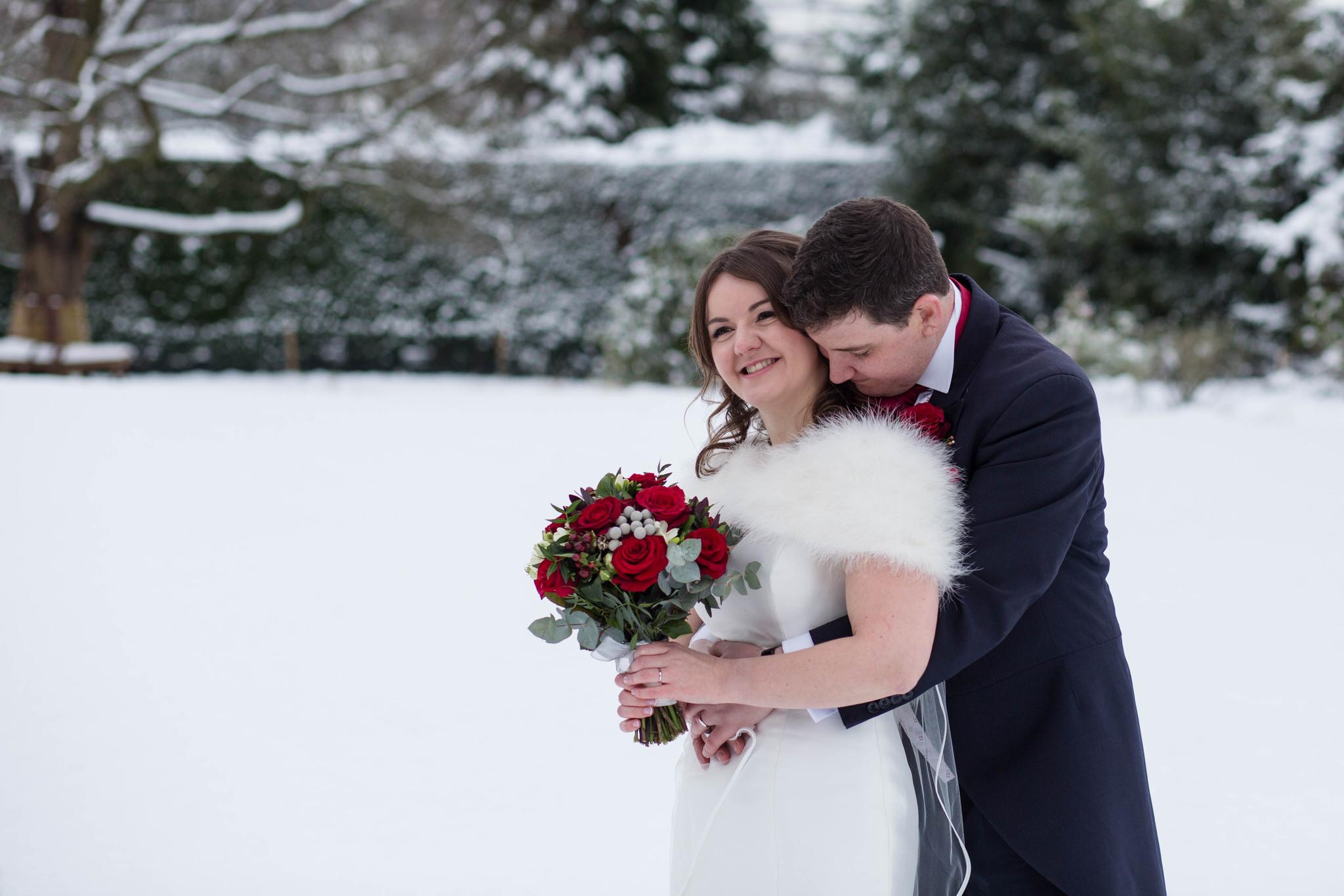 Winter Wedding Goldstone Hall Shropshire December 2017