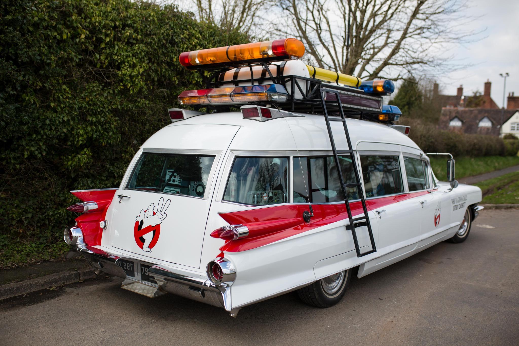 Ghostbusters film wedding car