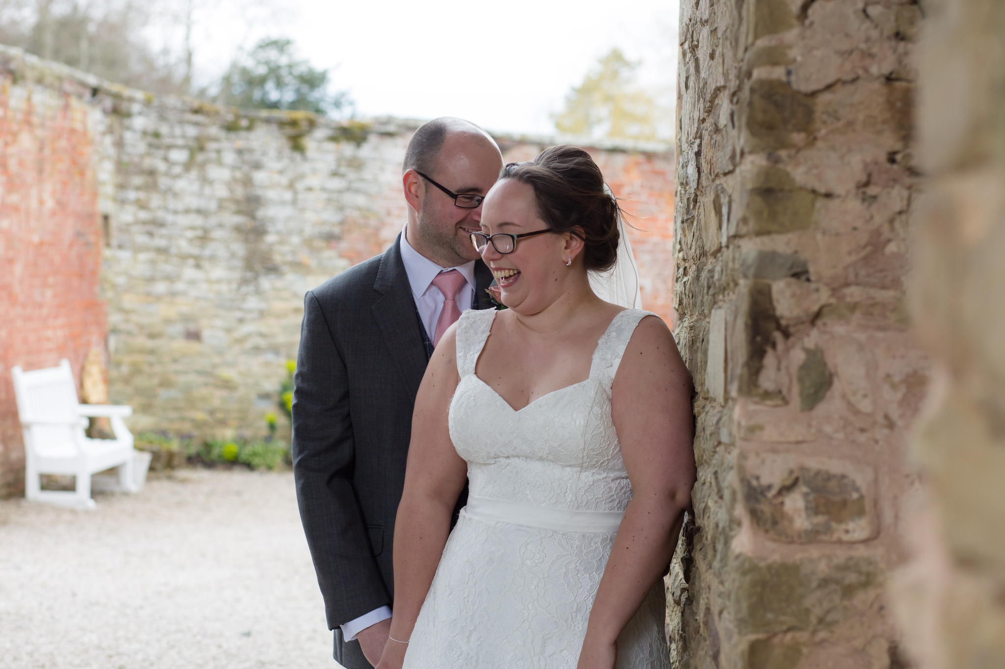 Portraits at Delbury Hall Spring wedding