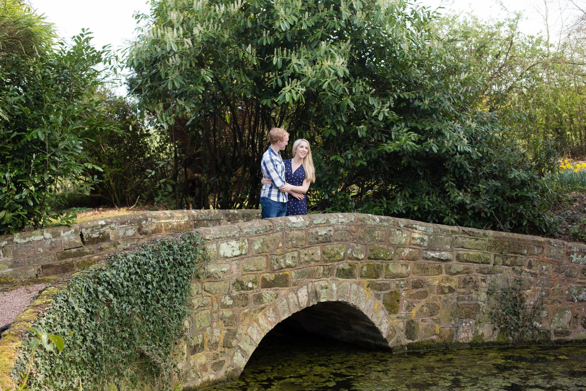 Hawkstone Hall bridge over lake
