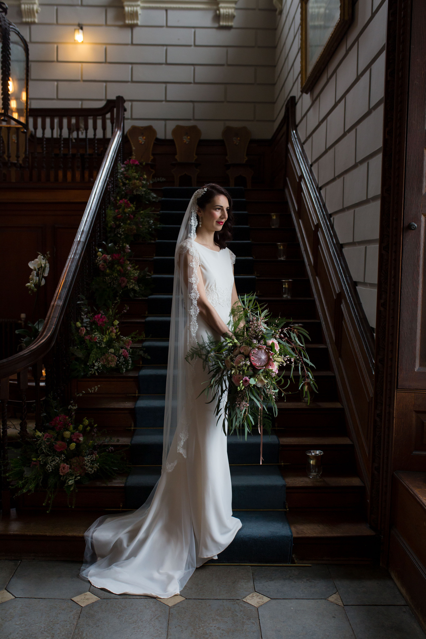 Davenport House wedding bridal portrait