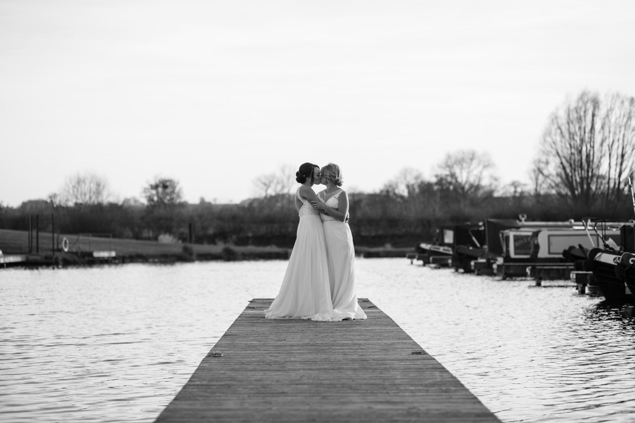 Same sex female wedding at Aston Marina
