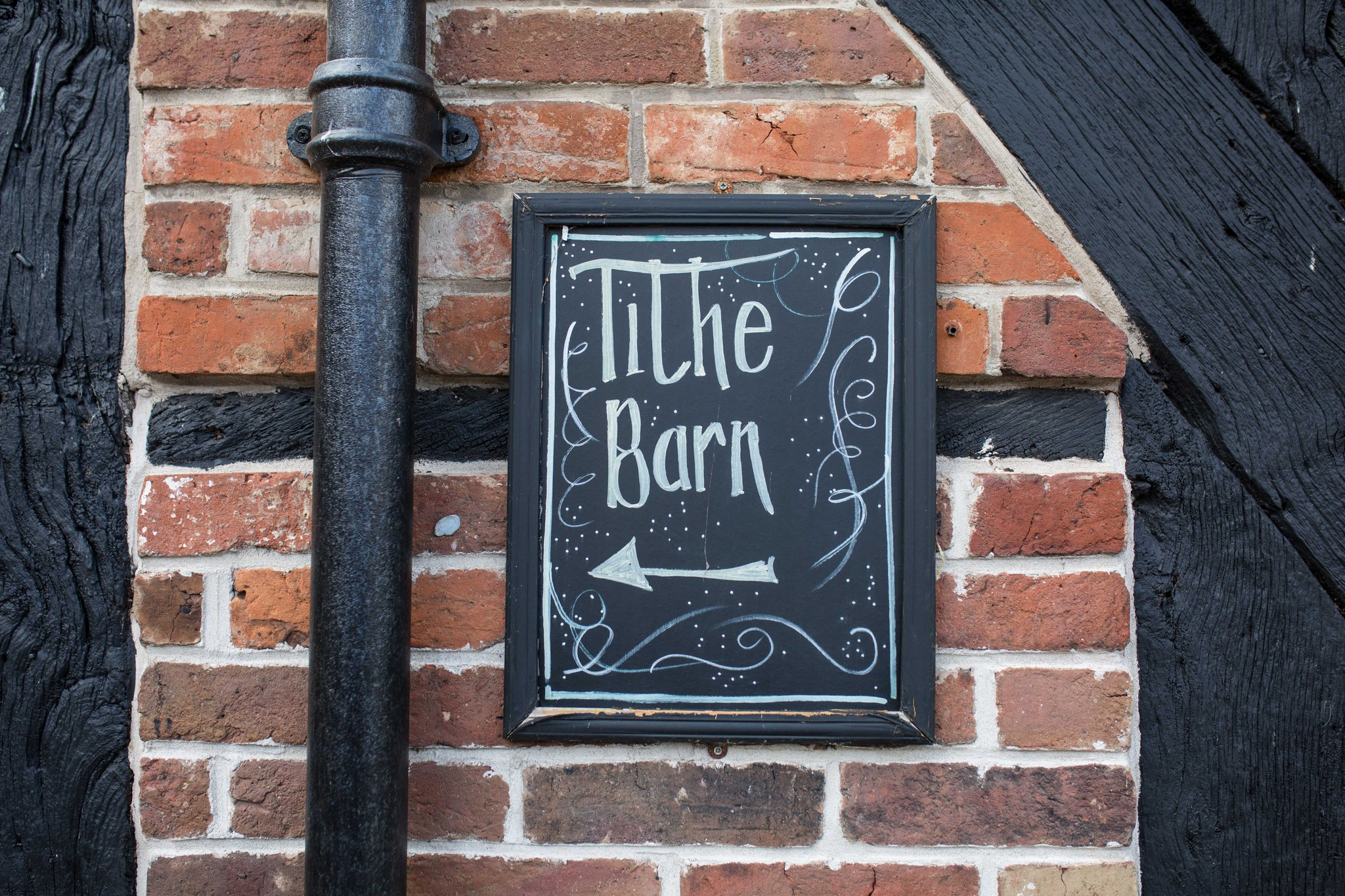Tithe Barn Hundred House sign