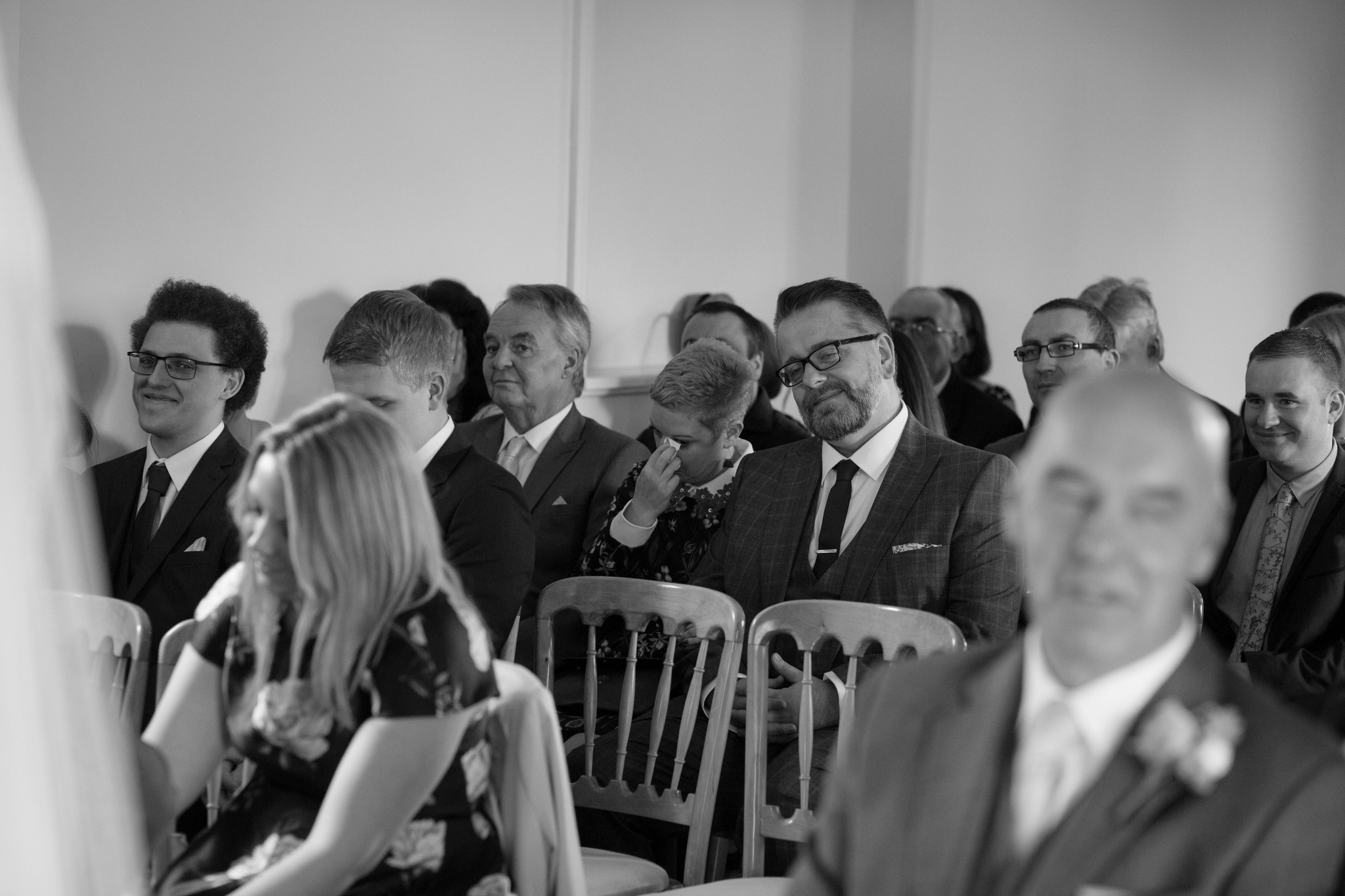 Indoor ceremony guests reactions