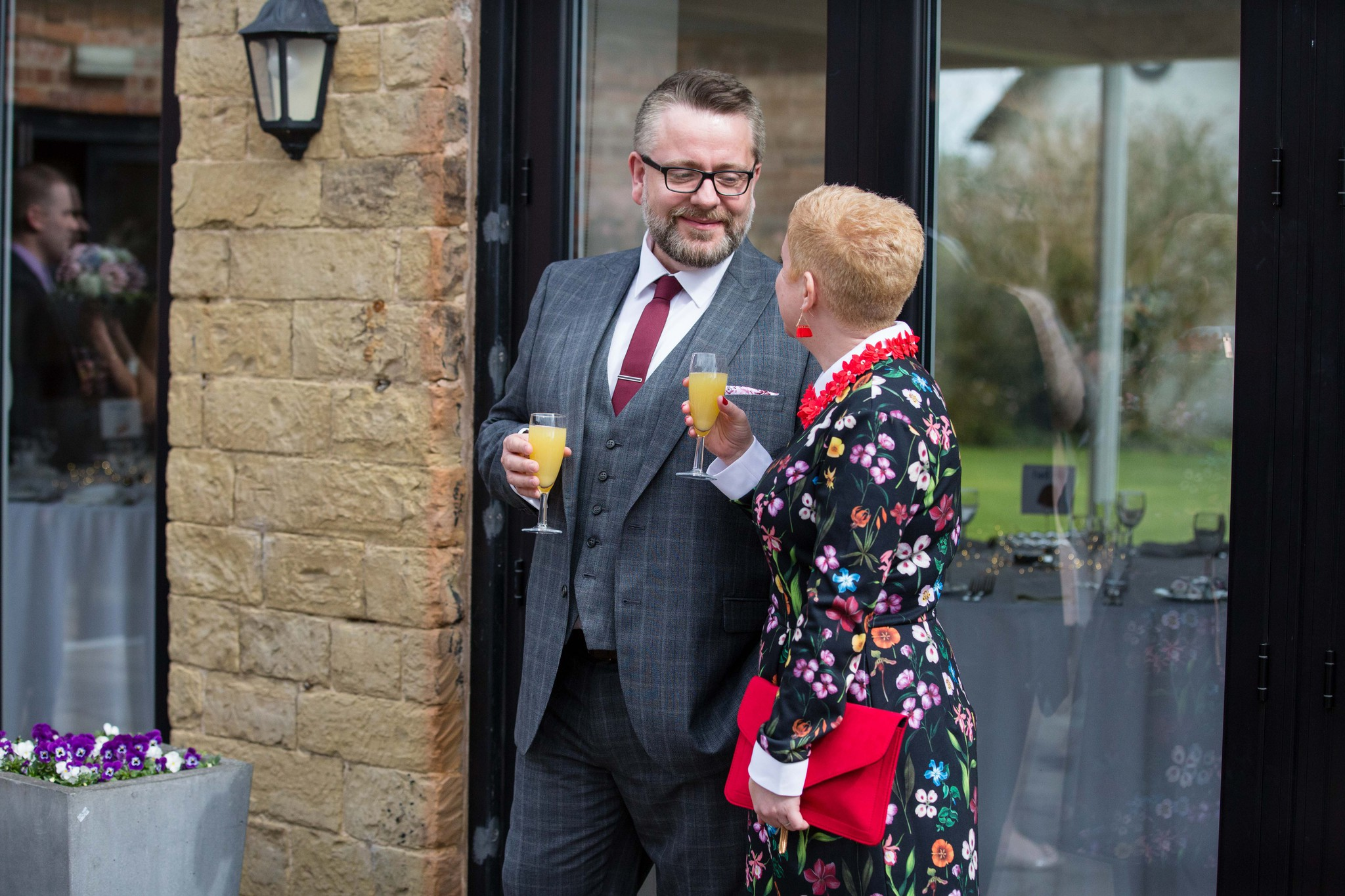 Delbury Hall post ceremony drinks & canapes