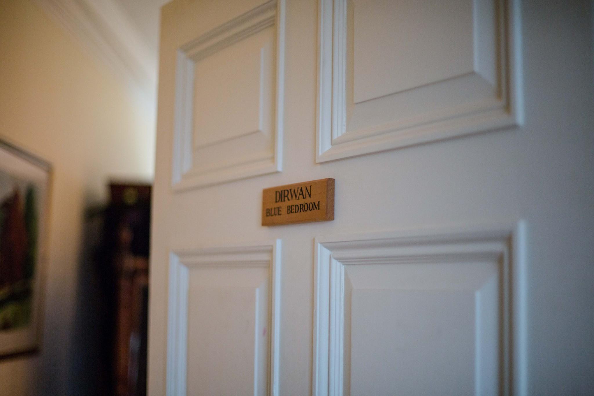 Dirwan Blue Bedroom Walcot Hall Shropshire