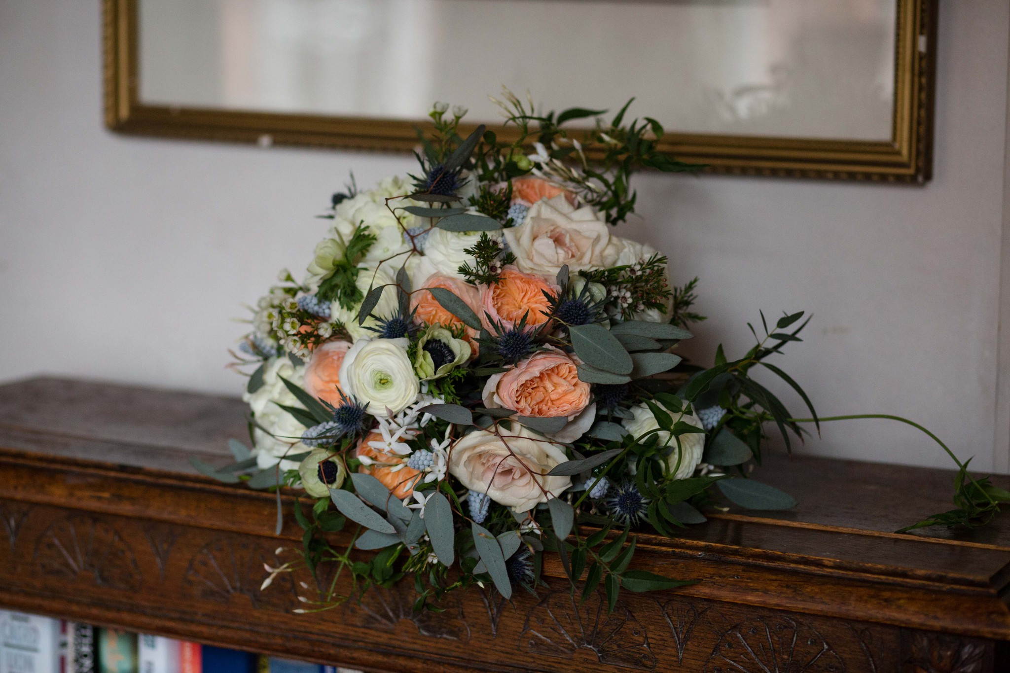 Bridal bouquet by Sarah Jane Midwood Walcot Hall