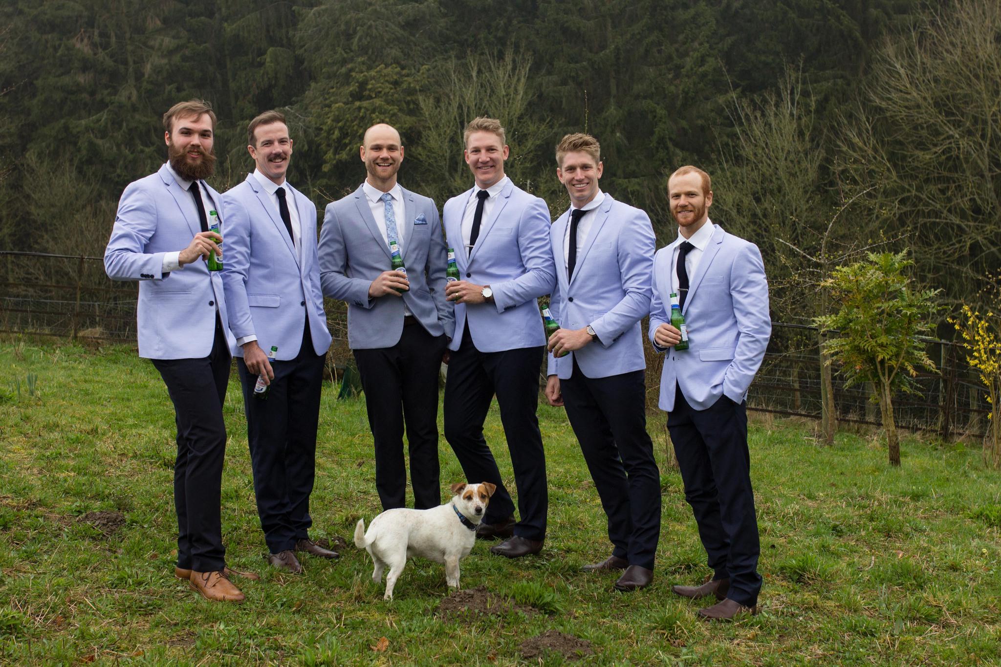 Groomsmen in YD Australia Jackets