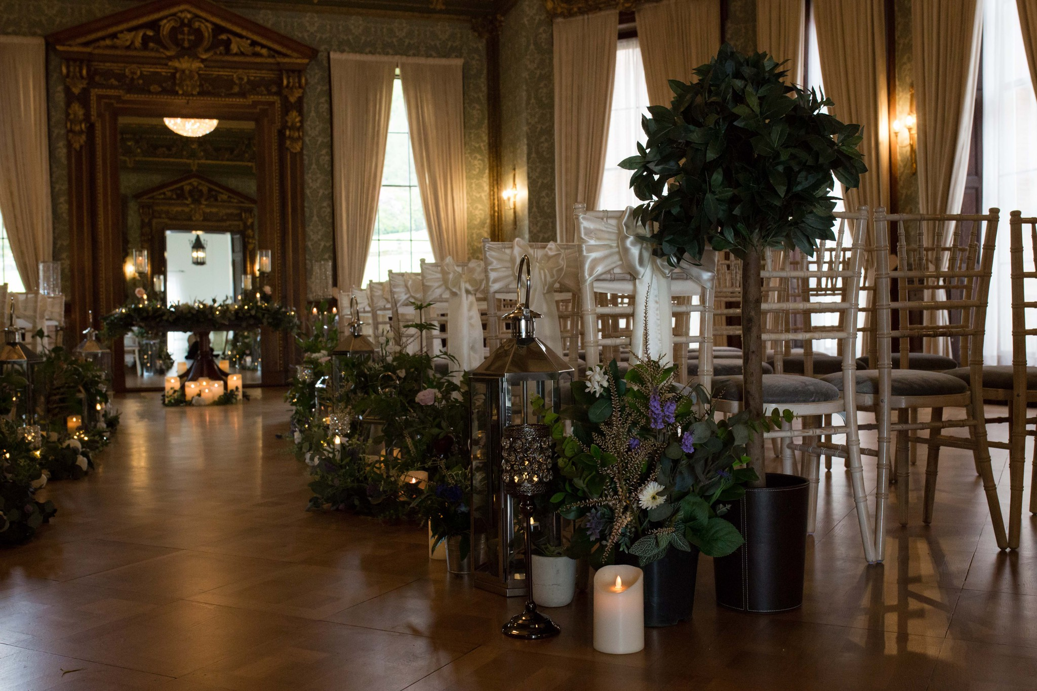 Hawkstone hall Ballroom ceremony set up