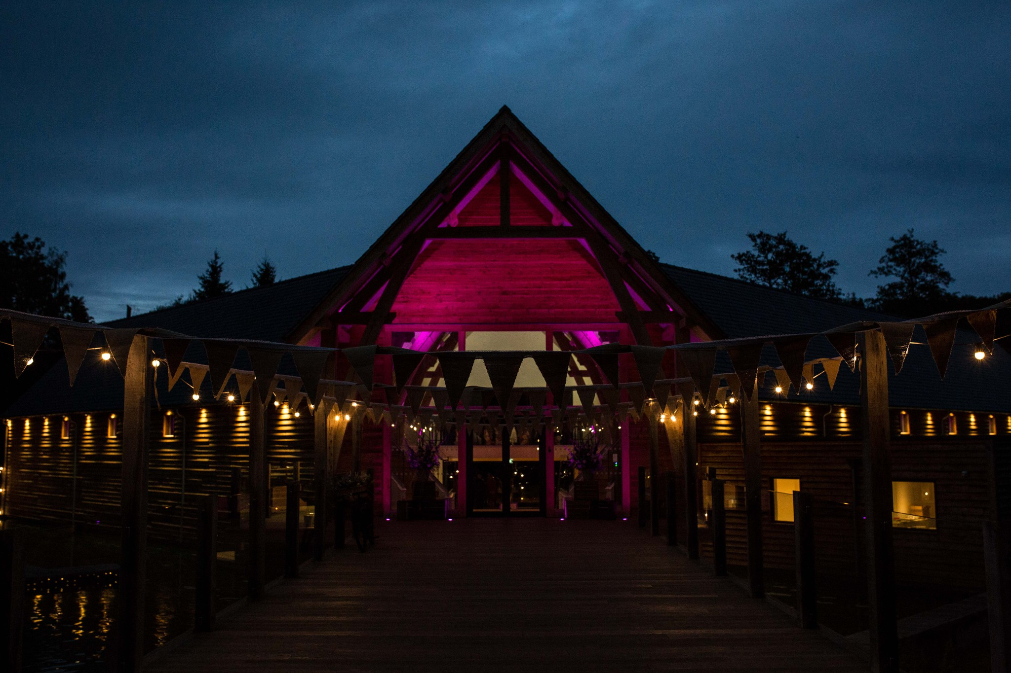 Mill Barns wedding photography at night