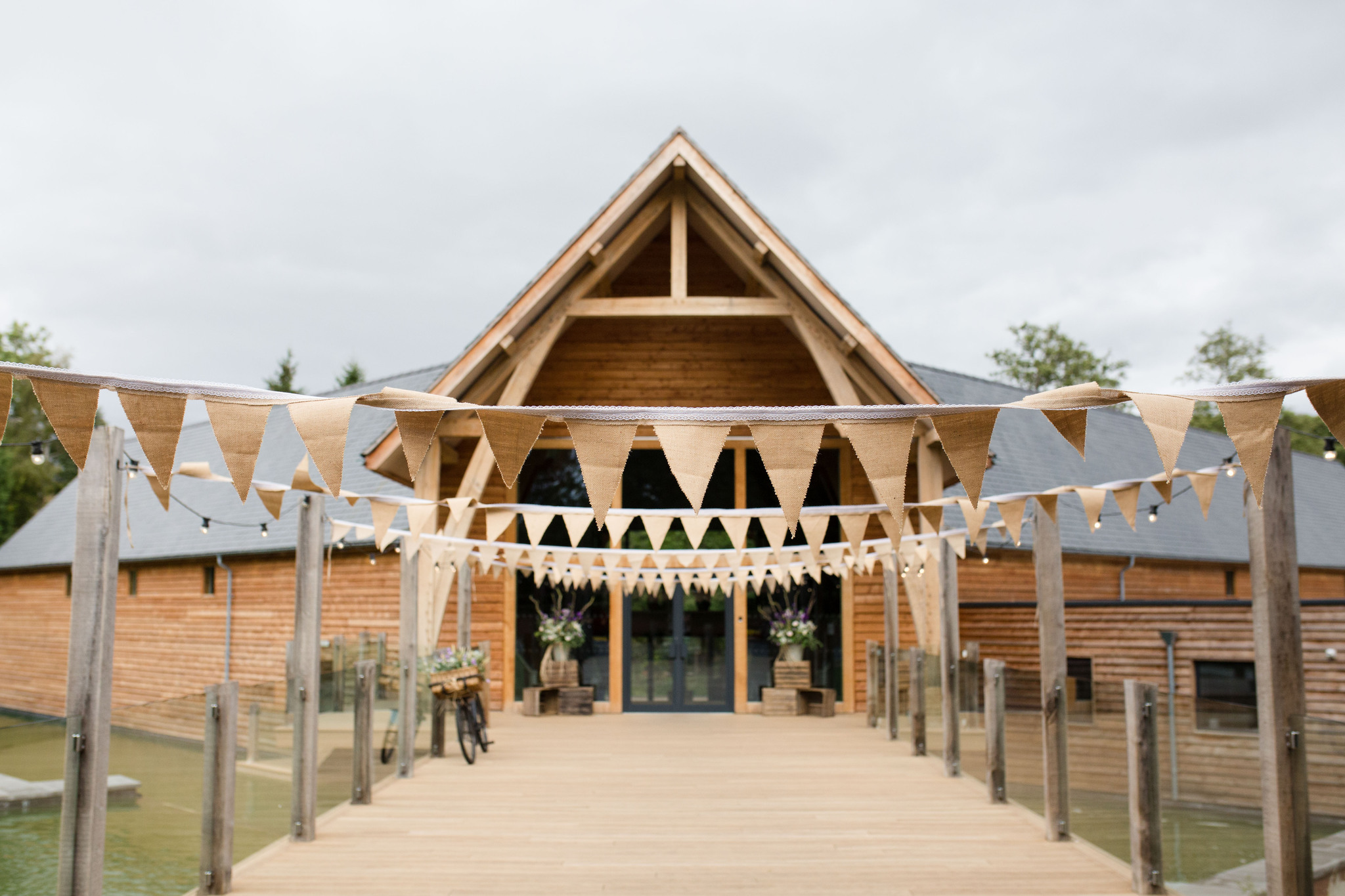 Mill Barns Wedding exterior photo with bunting