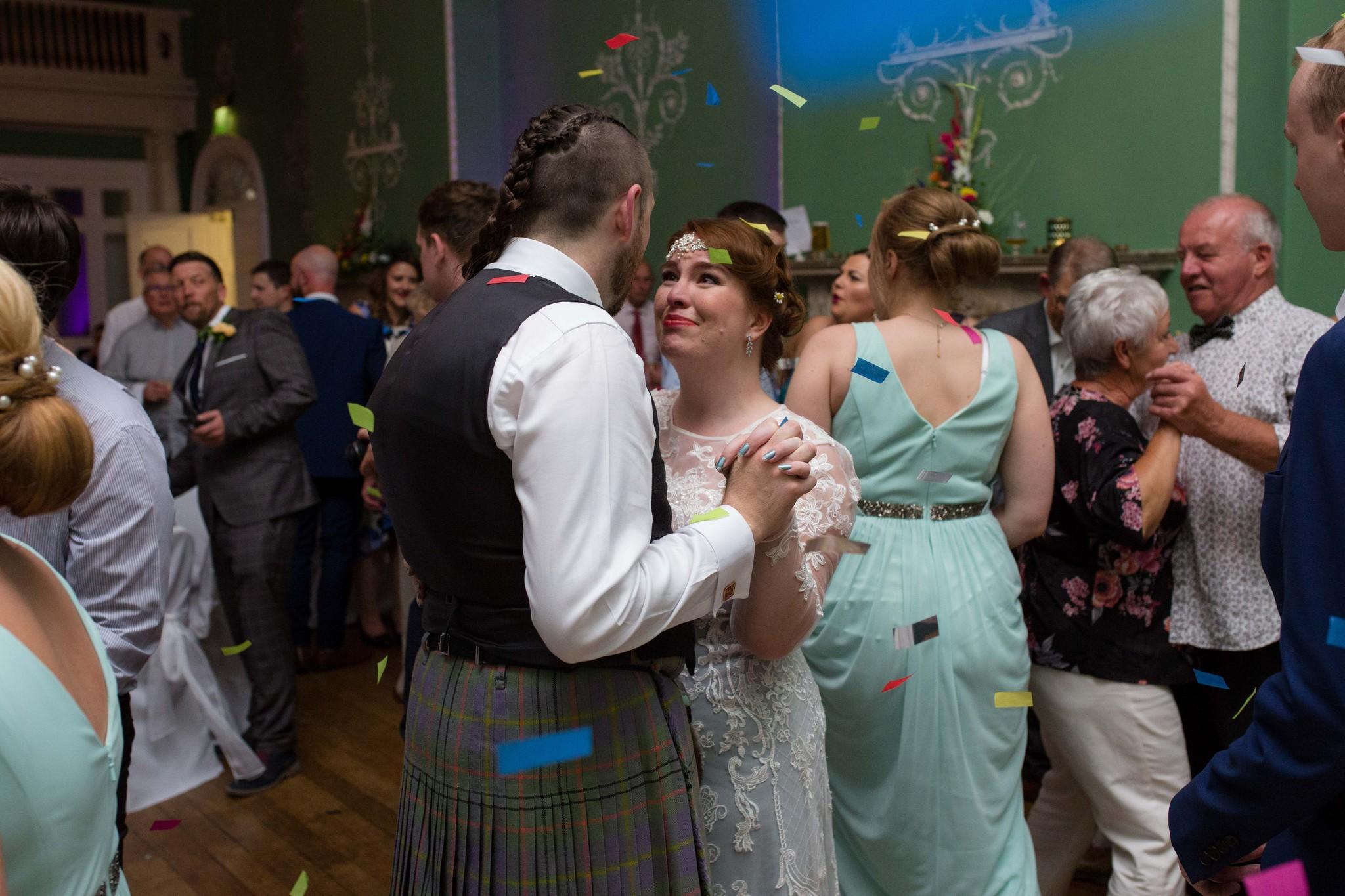 Pimhill Barn summer wedding dance