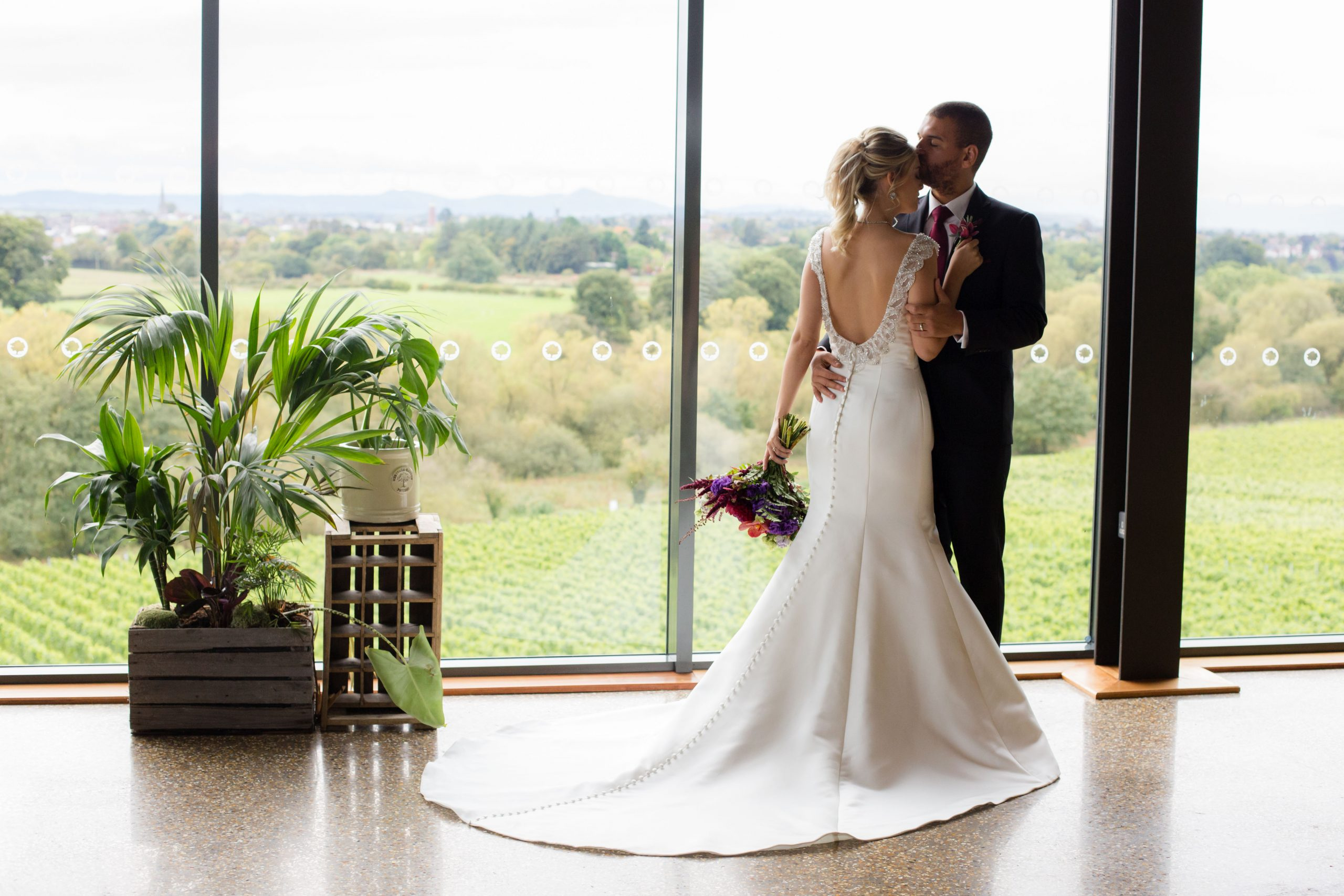 Shropshire elopement photography at Hencote Vineyard estate